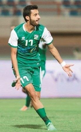 صورة علي احمد خلف لاعب نادي العربي